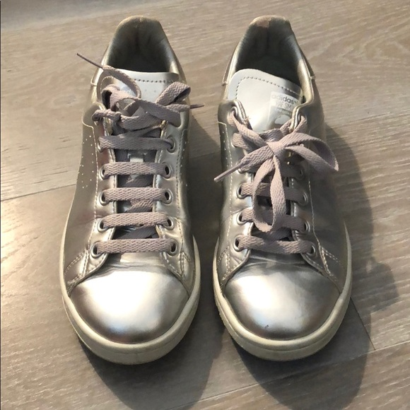 0fb4d84b6 Adidas RAF SIMONS Stan Smith sneaker in Silver 7.5